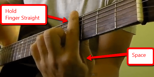 how to hold your fingers for barre chords